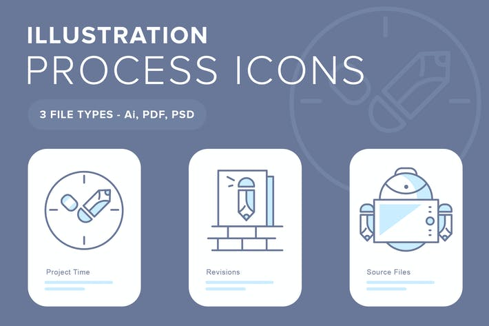 Thumbnail for Illustration Process Icons