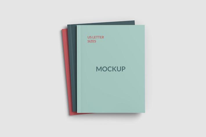 Thumbnail for Maquettes de couverture de magazine triple format lettre US