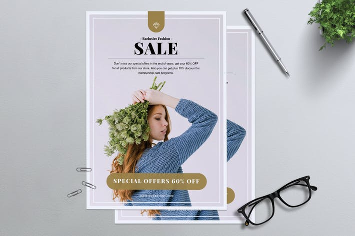 Thumbnail for Minimal Fashion Sale Flyer