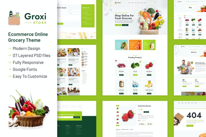 Groxi - Grocery Store Template
