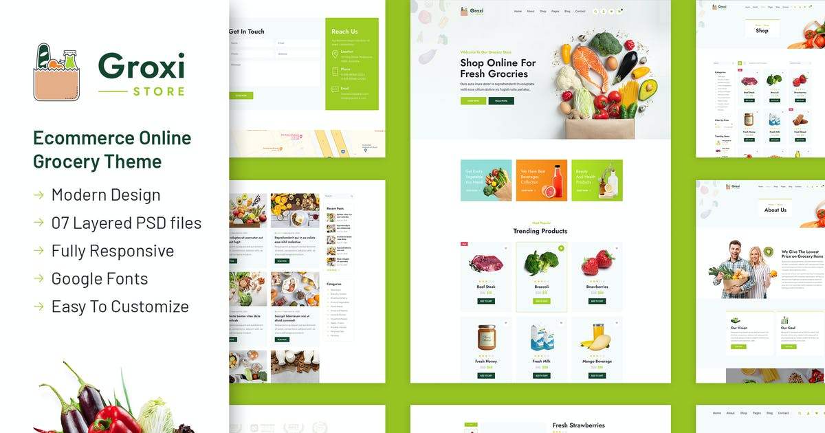 Download Groxi - Grocery Store Template by designingmedia