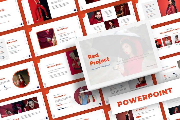 Красный проект - Шаблон Powerpoint