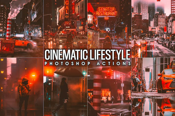 Thumbnail for Cinematic Urban Street Photoshopo Actions
