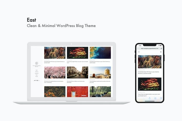 Thumbnail for East - Clean & Minimal WordPress Blog Theme