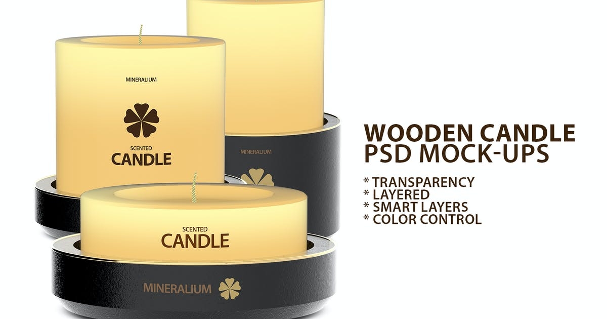 Download Wooden Candle PSD Mock-ups by Abdelrahman_El-masry