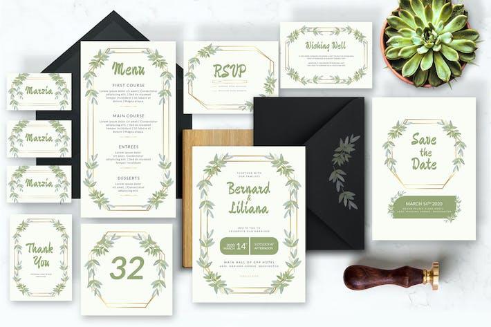Thumbnail for Little Bamboo Leaf - Wedding Invitation