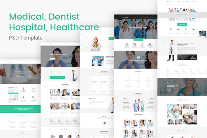 Cover Image For Columba - Medical & Dentist PSD Template