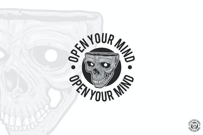 Skull Half Open Logo