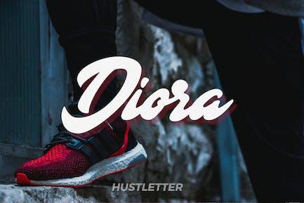 Diora - Fuente para letras deportivas