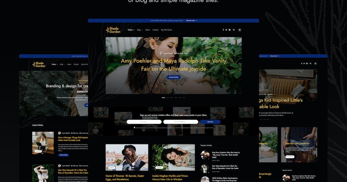 Download Shade Garden - Creative Blog WordPress Theme by DanyDuchaine