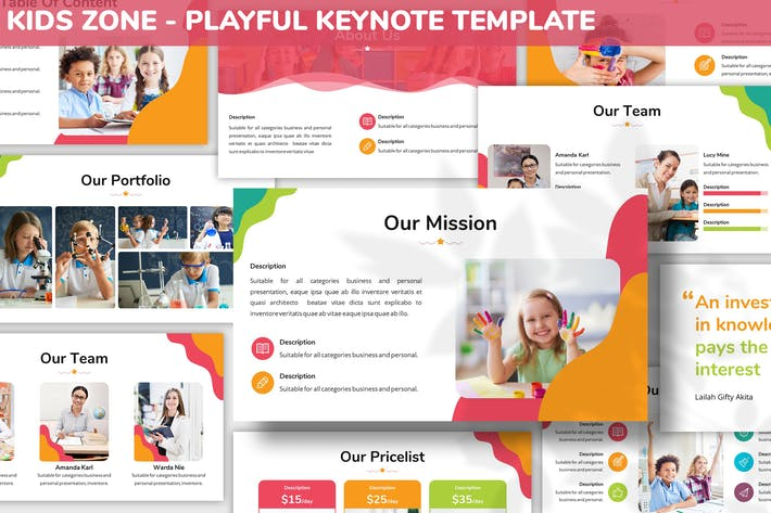 Cover Image For Kids Zone - Playful Keynote Template