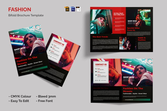 Thumbnail for Fashion Street - Bifold Brochure