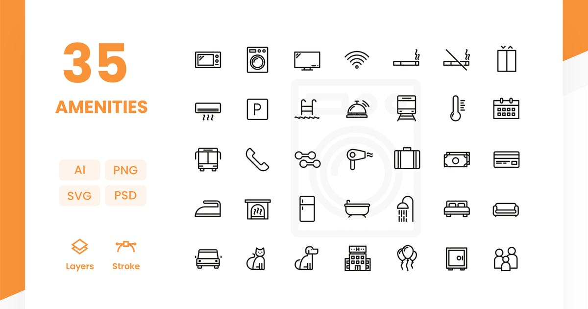 Download Amenities - Icons Pack by Zomorsky