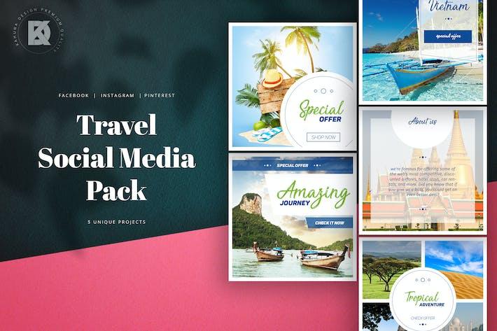 Cover Image For Travel Social Media Pack