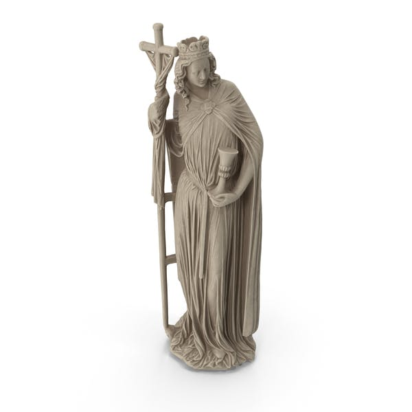 Saint With a Cross Statue