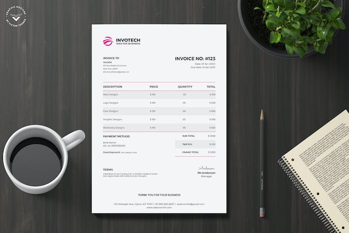 Thumbnail for Business Invoice Template