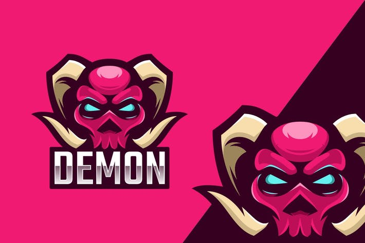 Thumbnail for Demon Logo Mascot