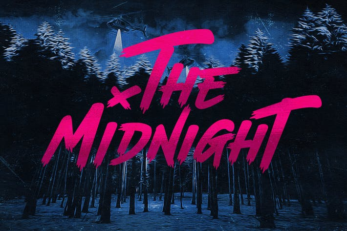 Thumbnail for The Midnight - Font + Illustrations