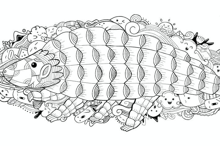 Thumbnail for Pangolin Doodle