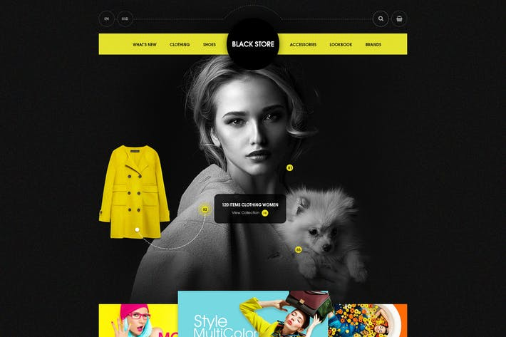 Thumbnail for Black Store - Ecommerce Templates