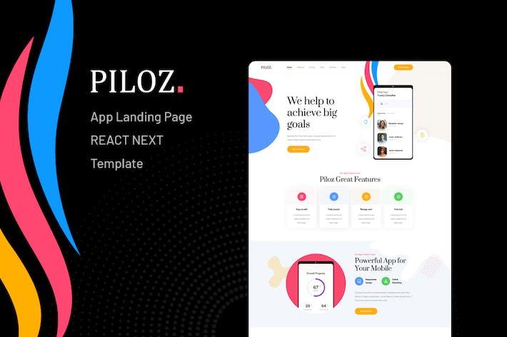 Thumbnail for Piloz - React Next App Landing Page Template
