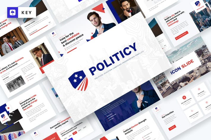 Thumbnail for Politicy - Political Election Keynote Template