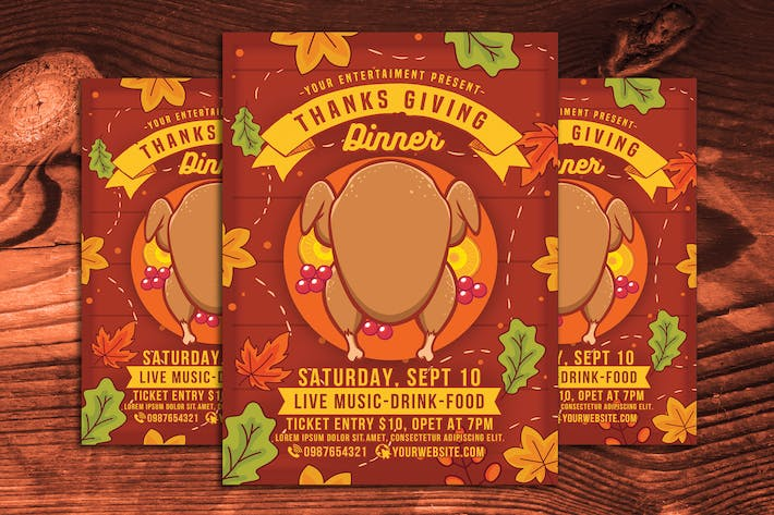Thumbnail for Thanksgiving Day Dinner Flyer