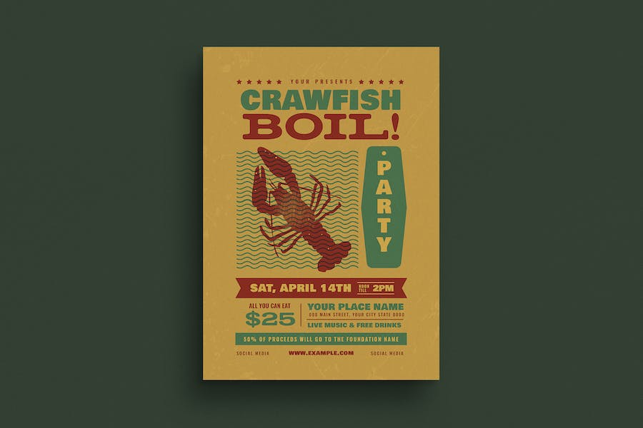 Crawfish Boil Event Flyer