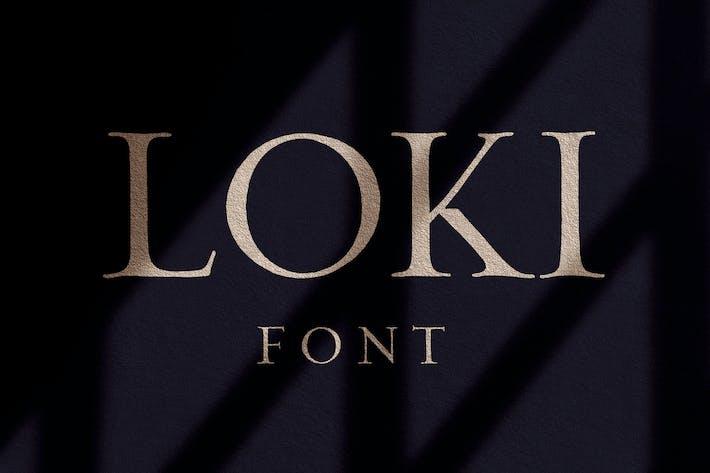 Thumbnail for Loki - Бесплатный шрифт кисти С засечками