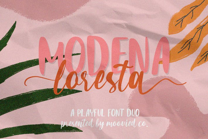 Thumbnail for Modena Loresta Font Duo