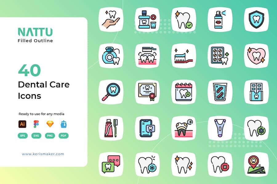 Nattu - Dental Care Icons