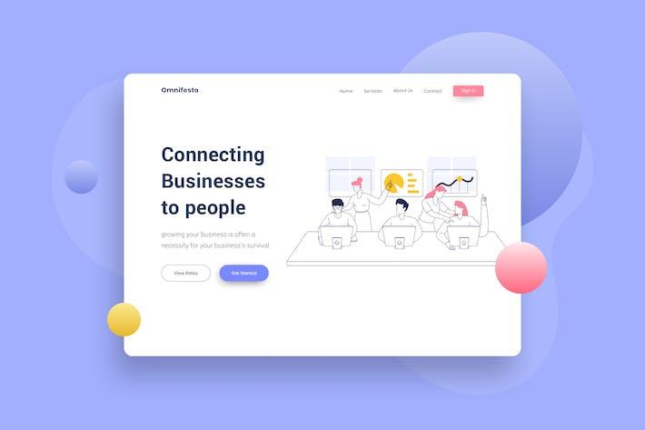 Thumbnail for Teamwork Meeting Website Header Illustration