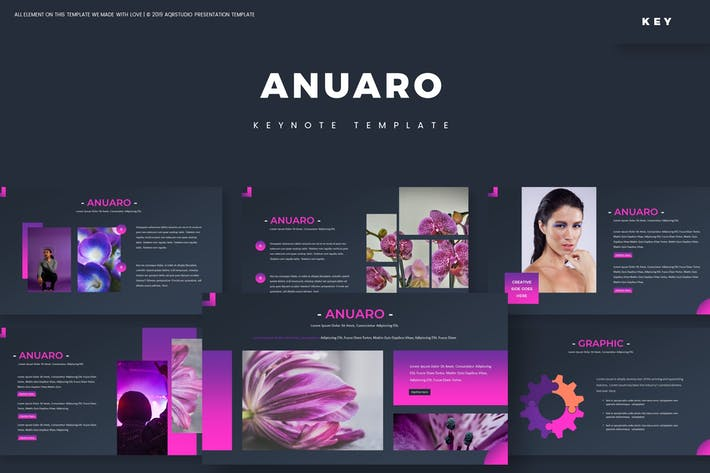 Cover Image For Anuaro - Keynote Template