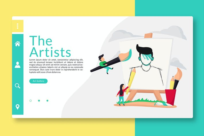 Thumbnail for The Artist - Web Header & Vector illustration GR