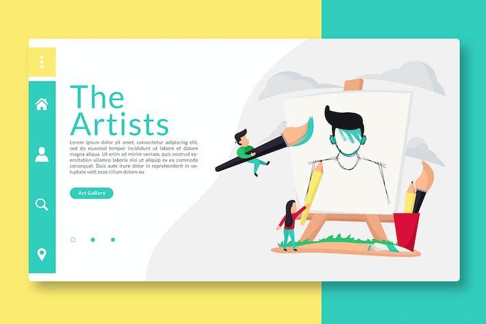Thumbnail for The Artist - Web Header & Vector illustration GR