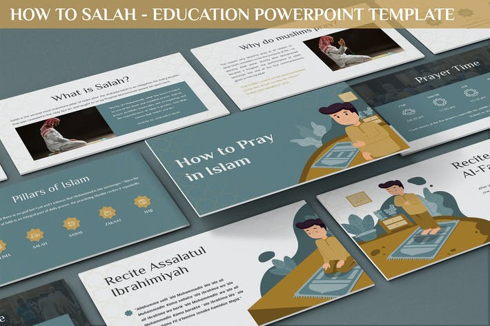 Thumbnail for How to Salah - Education Powerpoint Template