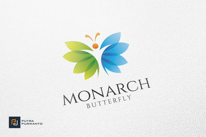 Thumbnail for Monarch / Butterfly - Logo Template