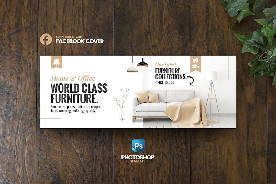 Best Furniture Facebook Cover template