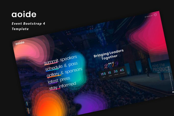 Thumbnail for Aoide - Event Bootstrap 4 Template