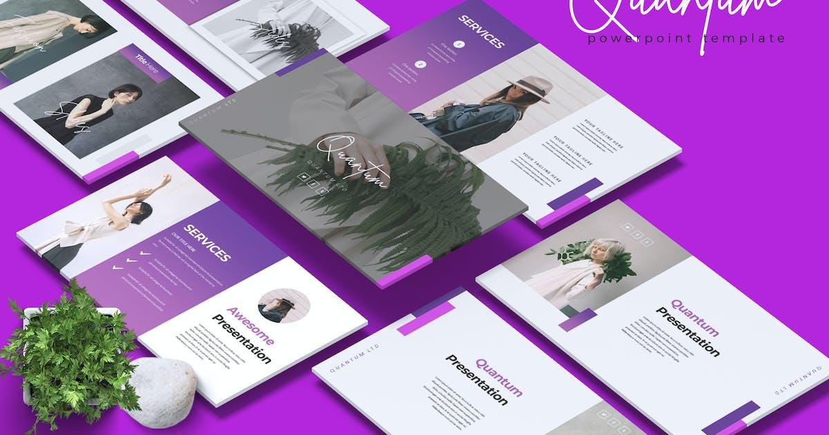 QUANTUM- Company Profile Powerpoint Template by RahardiCreative