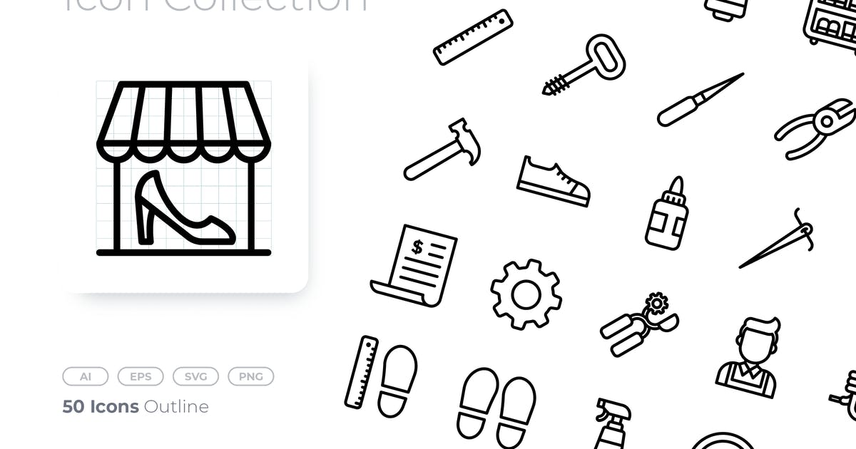 Download Shoemaker Outline Icon by GoodWare_Std