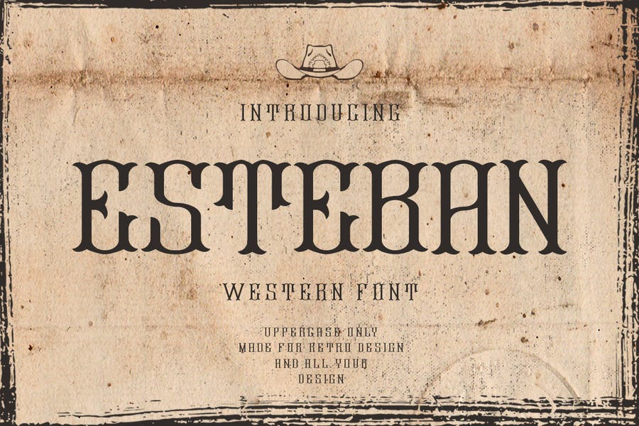Esteban | Western Font