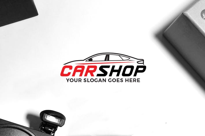Cover Image For Car Shop Logo