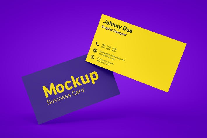 cover image for floating business card mockup - Business Card Mockup