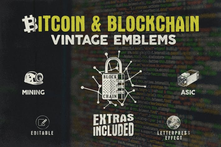 Thumbnail for Bitcoin & Blockchain Vintage Emblems
