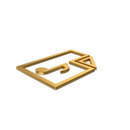 Gold Symbol Audio File