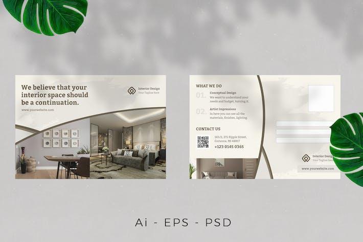 Interior Design Postcard Design