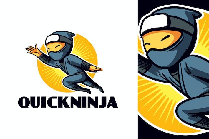 Thumbnail for Cartoon Running Ninja Character Mascot Logo