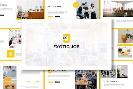 Exotische Arbeit - Business Google Folien Vorlage