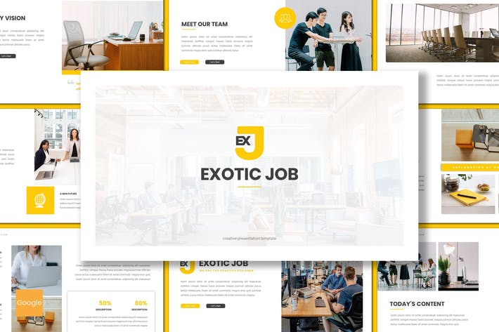 Thumbnail for Exotic Job - Business Google Slides Template